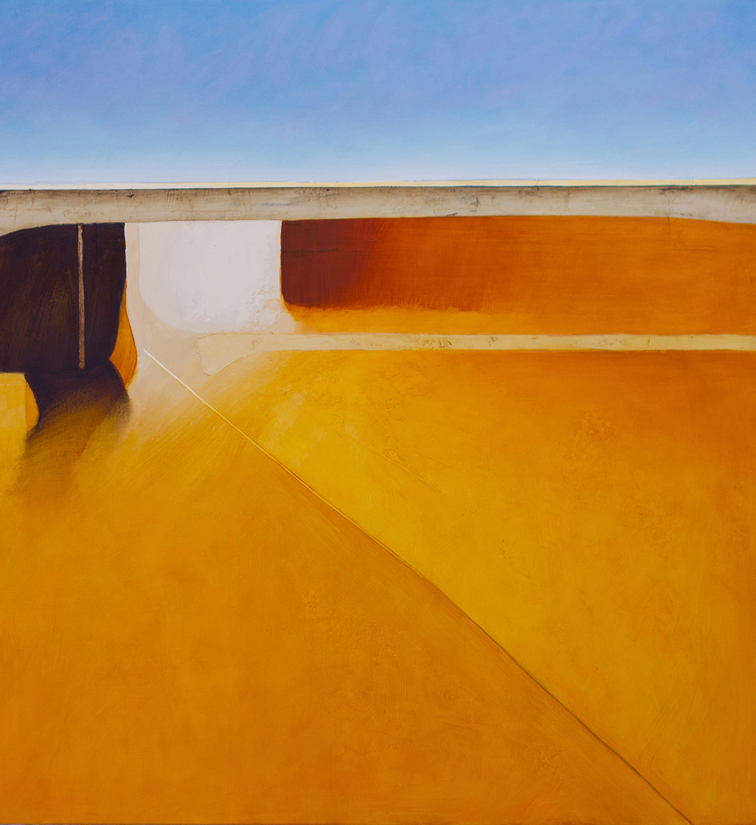 Jules Sher Orange Field and Umber Earth