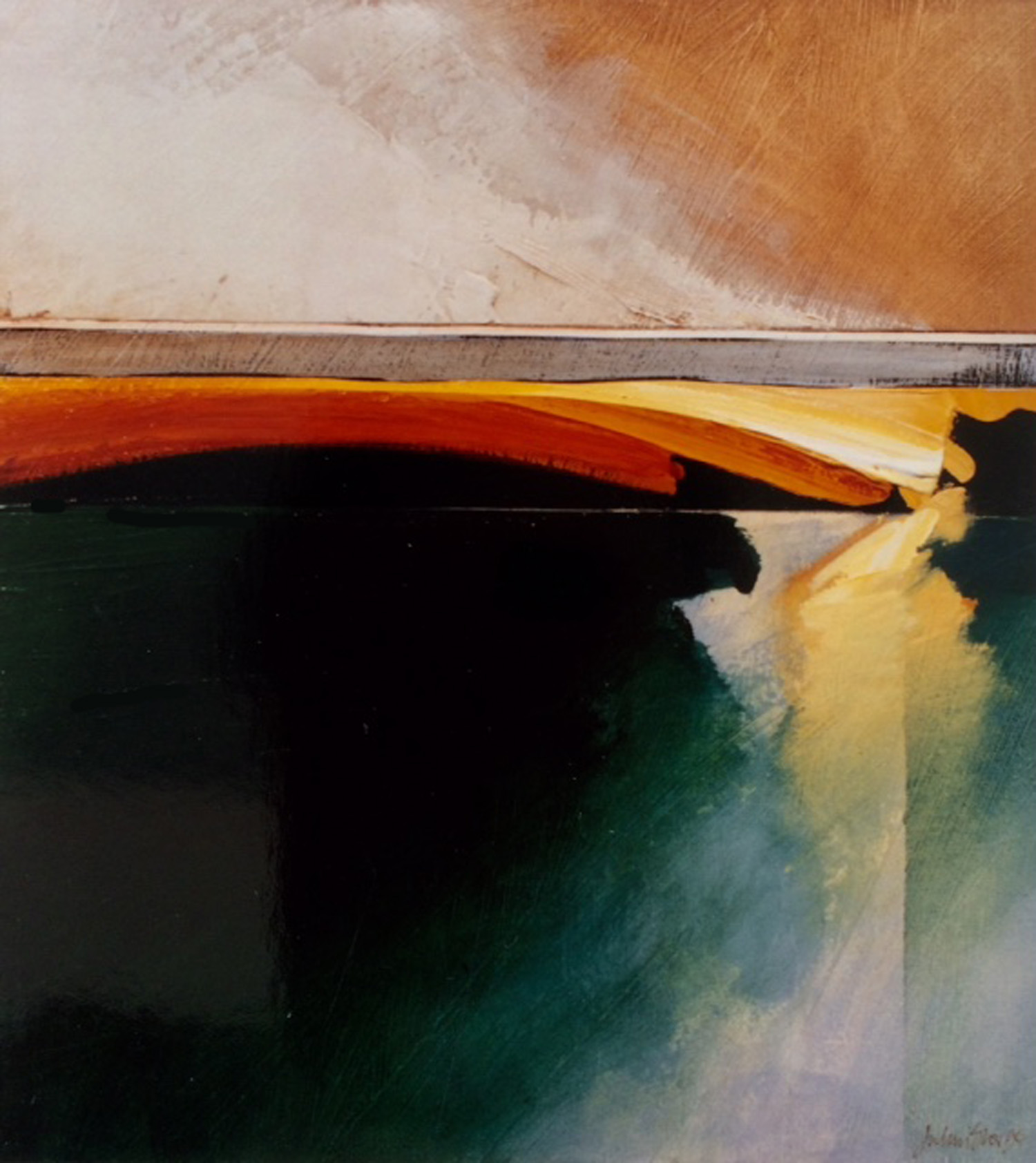 Jules Sher Fire and Water Landscape 1994