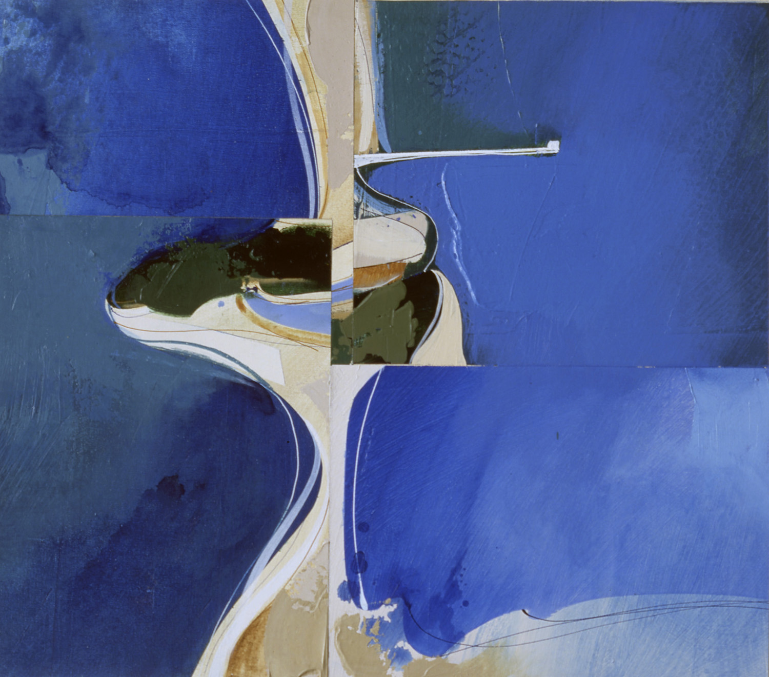 Jules Sher Pittwater Aerial No I 1986