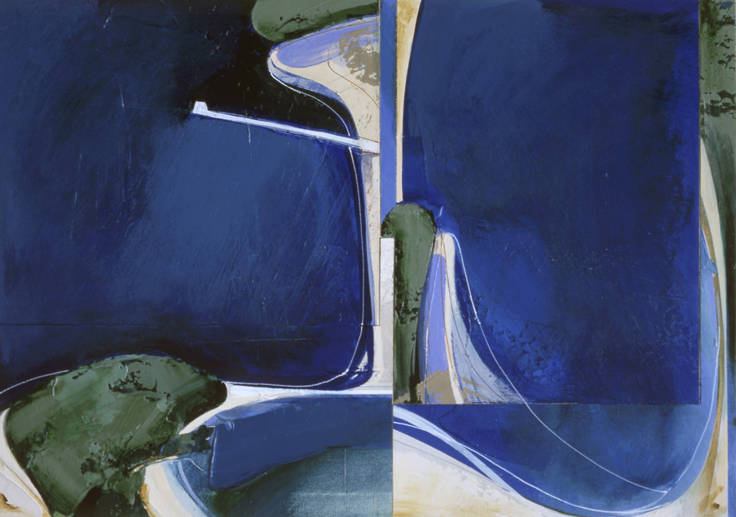 Jules Sher Pittwater Aerial No II 1986