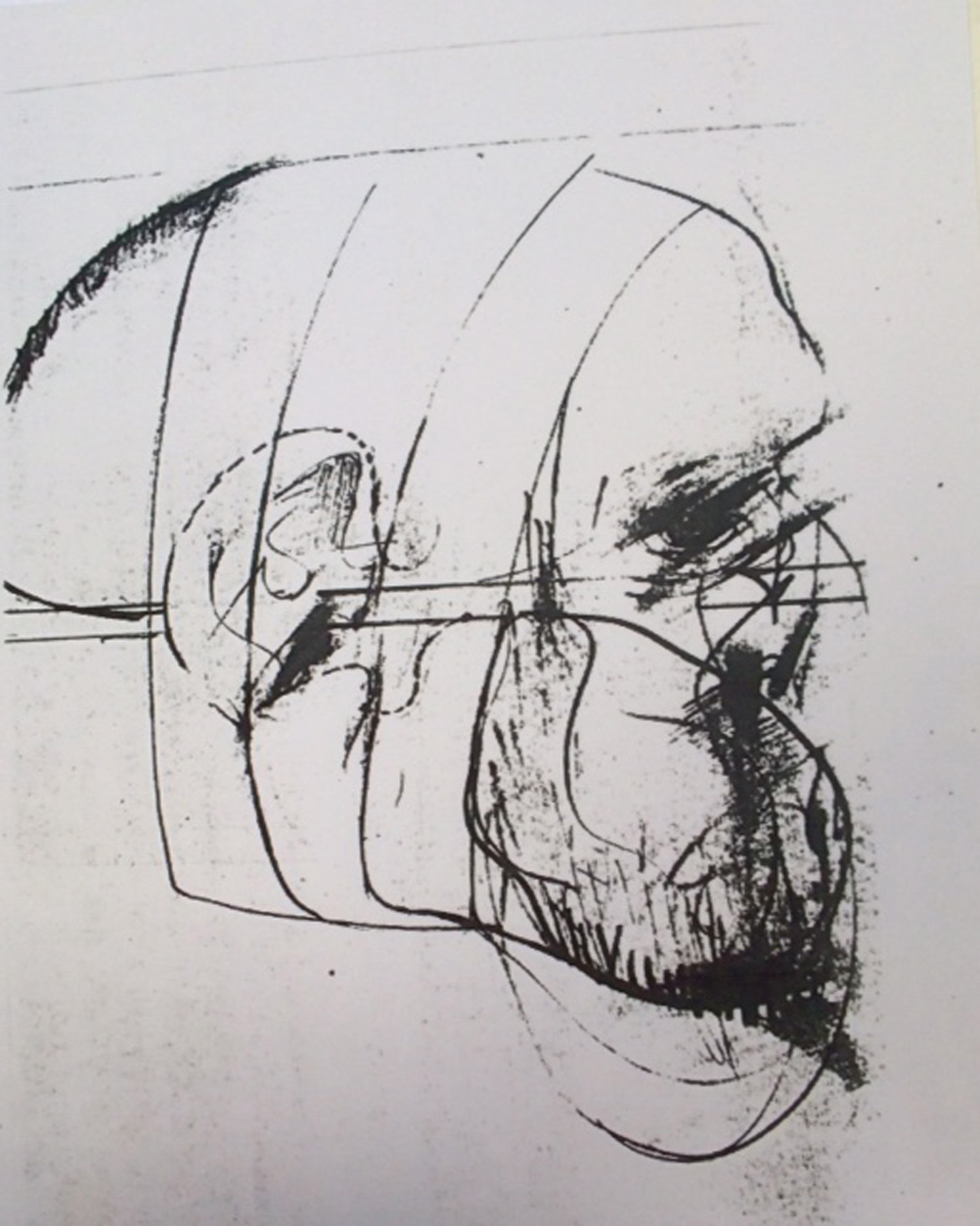 Jules Sher Portrait with Bandaged Ear IV 1968 - Homage to Van Gogh