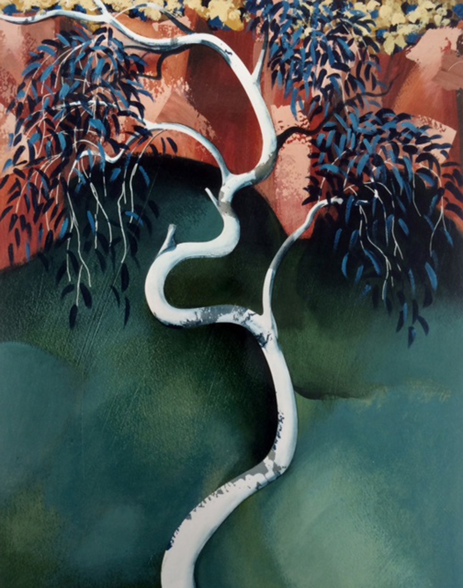 Jules Sher Young Ghost Gum and Rock Pool Dales Gorge 1989